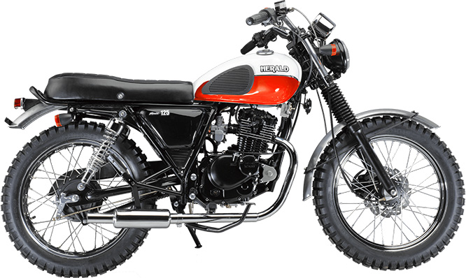 Retro-stye lightweight Scrambler from Herald is priced at £2750