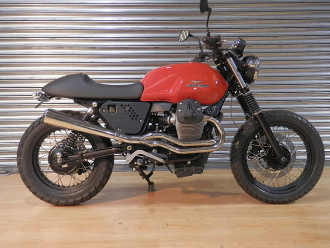 Moto Strada in West Yorkshire came up with their own version of the V7 Scrambler