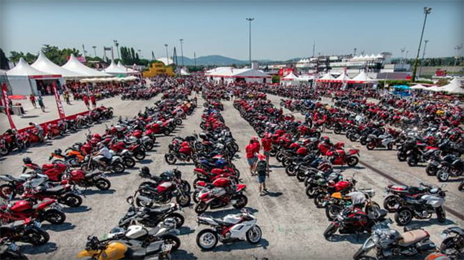 It's the 9th annual World Ducati Week in 2016