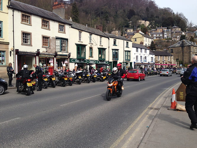 Matlock Bath has been described as a mecca for motorcycles