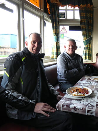 Andy and Lee stopping in at the Victoria Biker's Pub in Coalville