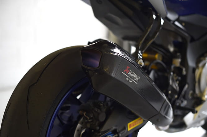 Akrapovic designed this exhaust for the 2015 YZF-R1