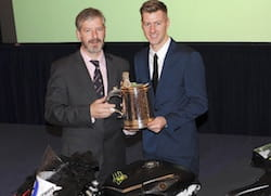 Hutchinson was awarded the RAC's Torrens Trophy
