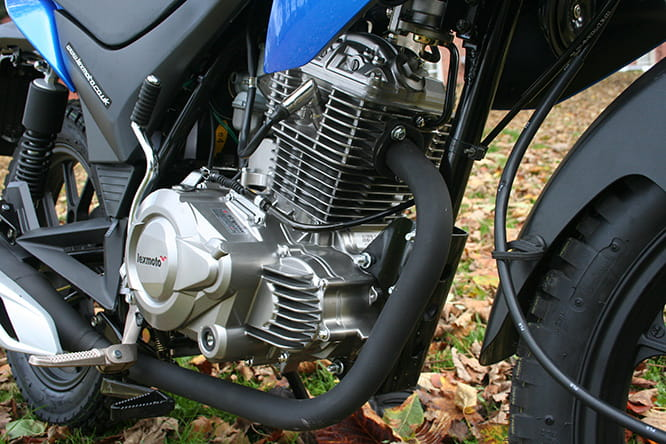 Four-stroke single musters 10.4bhp, but it's enough (just)