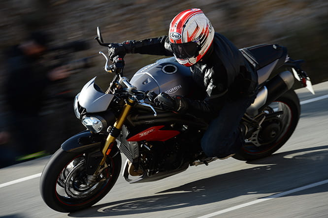 Pirelli Diablo Supercorsa SP's are a fine boot on the Speed Triple