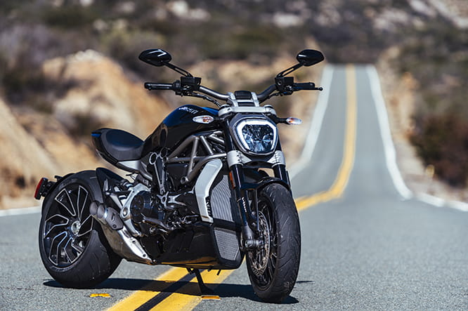 Ducati's XDiavel is only available in two shades of black. Seriously. It's one mean mother of a bike. We got to ride it in San Diego at its world launch. Here's our full review.