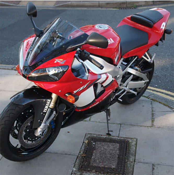 14 year old R1 with less than 1,000 miles on the clock...but it's almost £10k