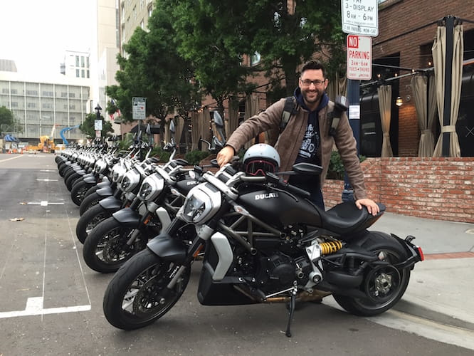 Marc Potter rides the XDiavel