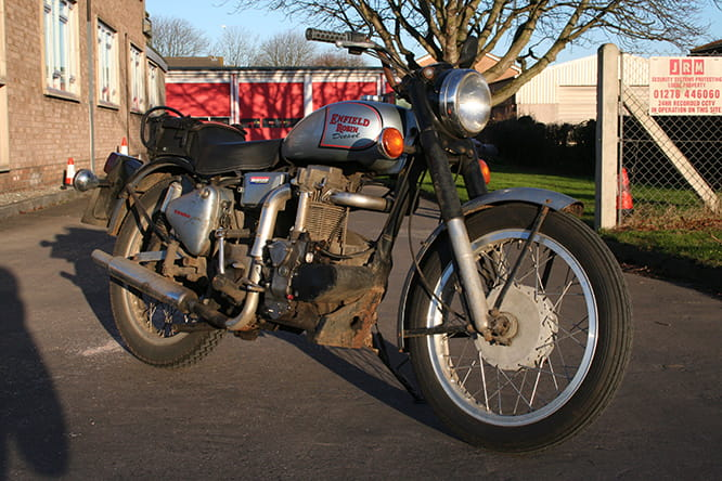 Well travelled Enfield DR400 – this one's clocked up 60,000 miles