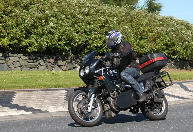 Smart-powered Triumph Tiger rode well and managed 100mph/100mpg