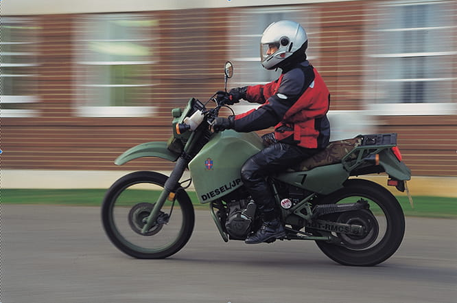 Military diesel bike had its own four-valve direct injection single