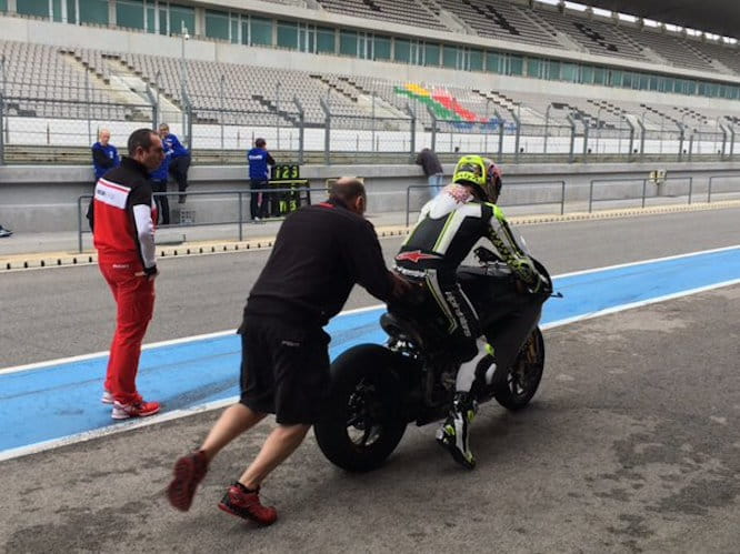 Shakey takes to Portimao on the BSB Panigale