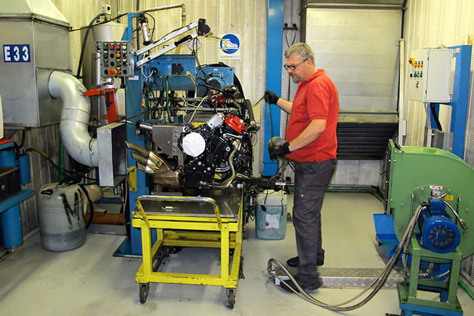 F3 engine being prepared for hot testing