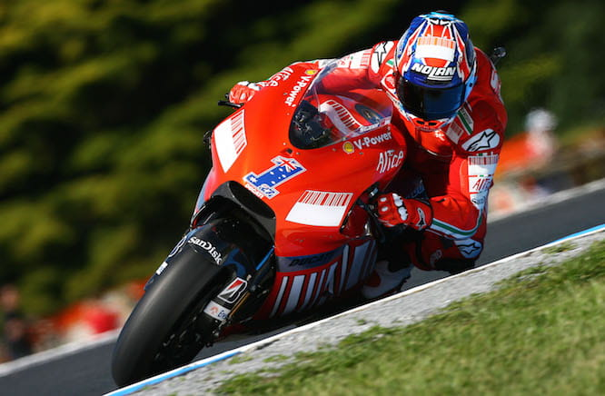 Stoner will ride the Ducati again for the first time on Saturday