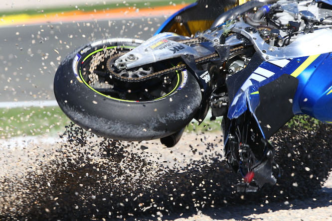 Nearly every rider has crashed on the Michelins so far