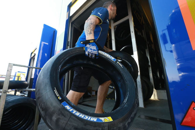 Michelin's first official test was Valencia