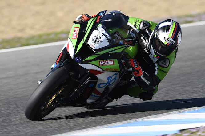 Haslam aboard the JG Speedfit Kawasaki