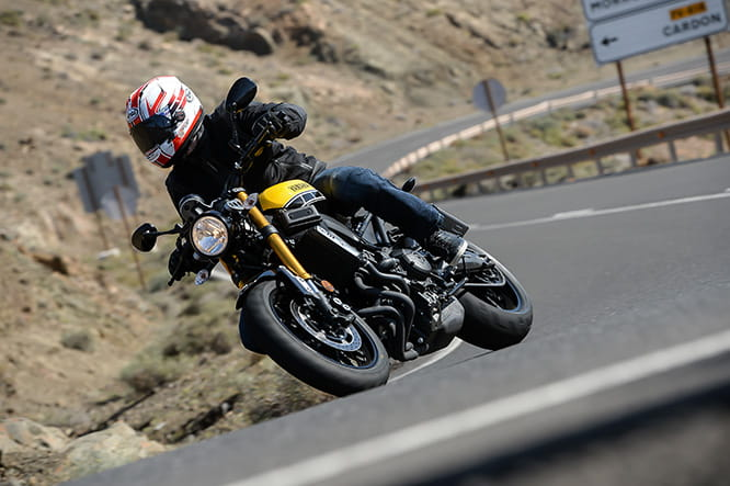 Weighing the same as a CBR600RR, the XSR900 is vastly capable in the corners