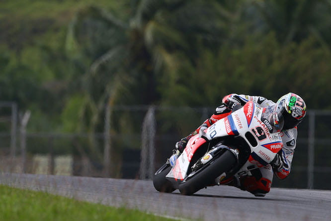 Petrucci set a quick time early on