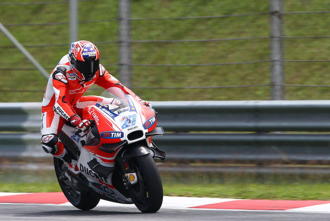 Stoner on track in Sepang