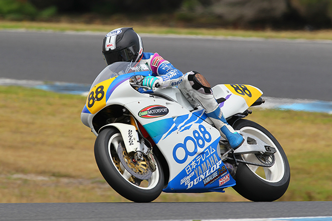 Kevin Magee's original factory Yamaha YZR500 GP bike