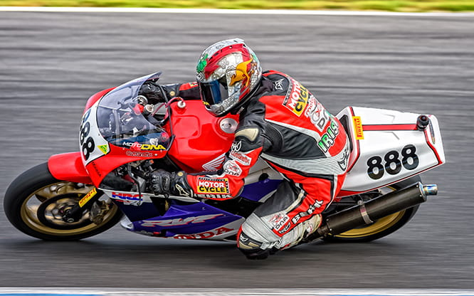 Mark McVeigh racing the RC30