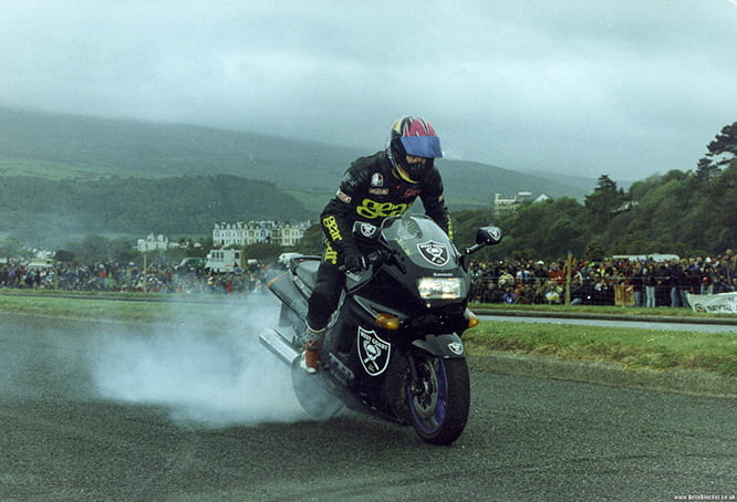 Holder of the world's fastest wheelie - Gary Rothwell