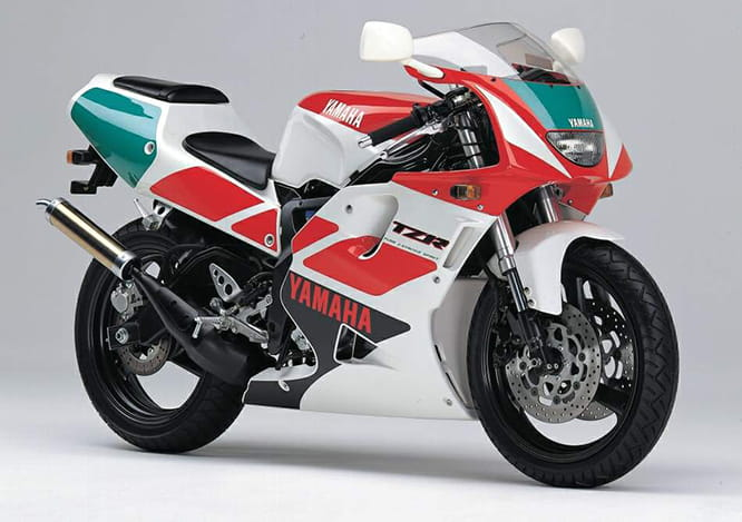 The closest to Honda's NSR was Yamaha's TZR250R 3XV