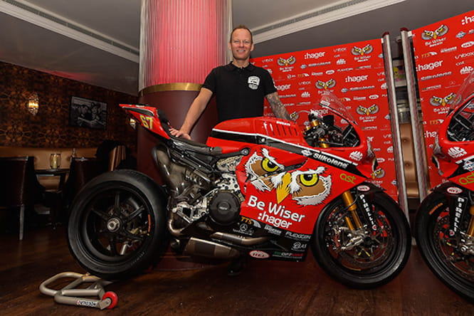 Shakey with his new BeWiser Ducati