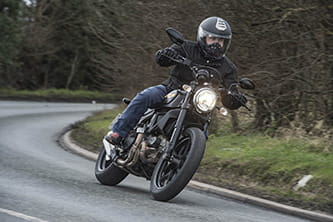 Paul Taylor on the Ducati Scrambler