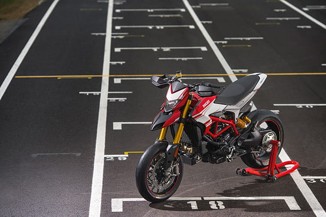 Hypermotard SP in its natural environment, tearing up da racetrack.