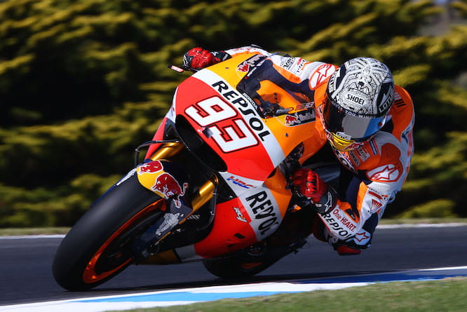 Marquez topped the timesheet on Friday