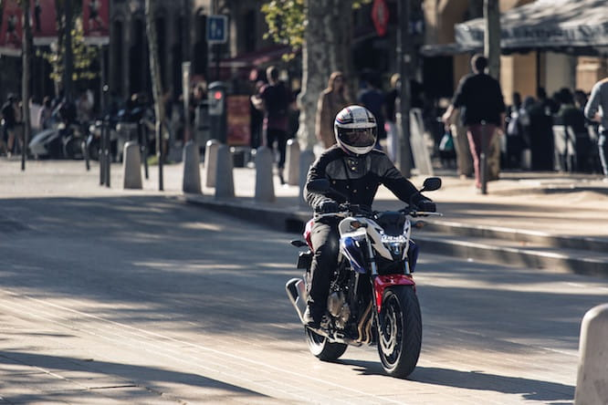 We're riding the new CB500F and CBR500R in Spain