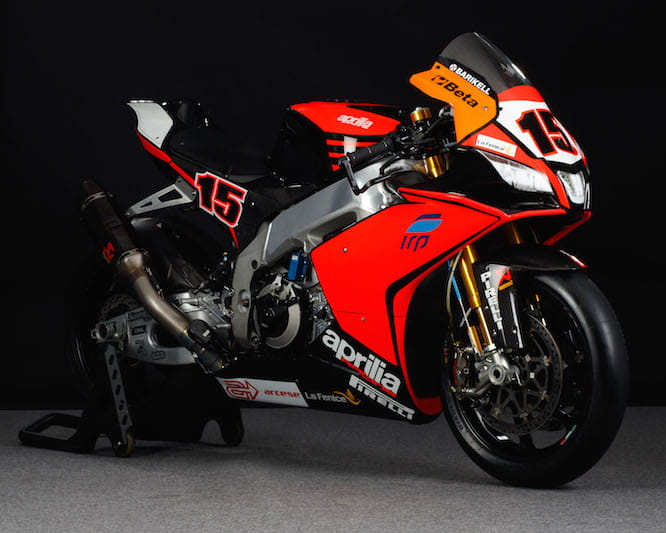 The IODA Aprilia of Alex De Angelis