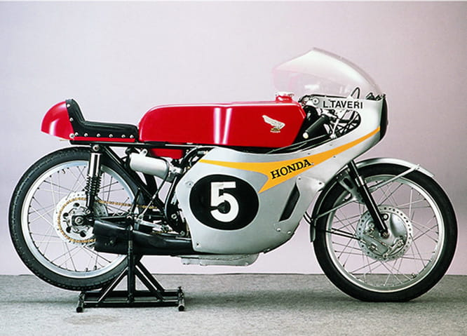 The exquisite in-line 5 cylinder RC149 Honda