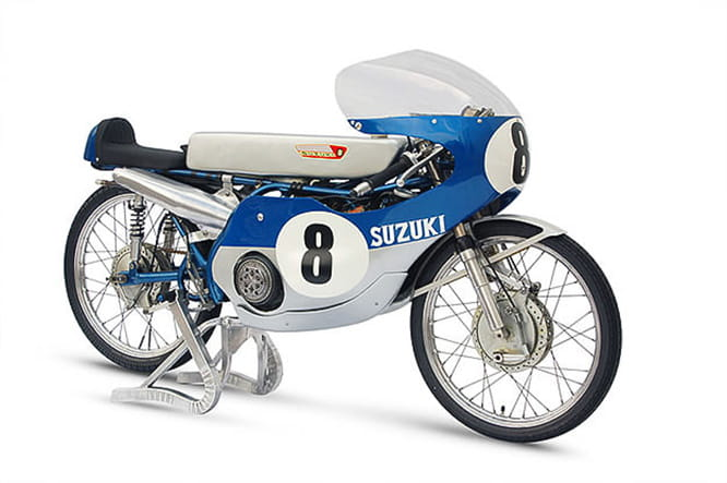 Max revs on the 50cc Suzuki was 17,500rpm and it had a 14-speed transmission