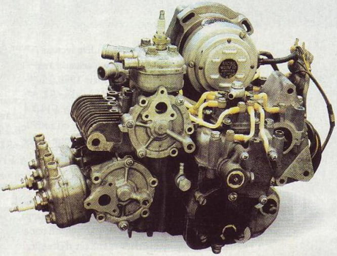 The two-stroke triple produced 19bhp at 20,000rpm