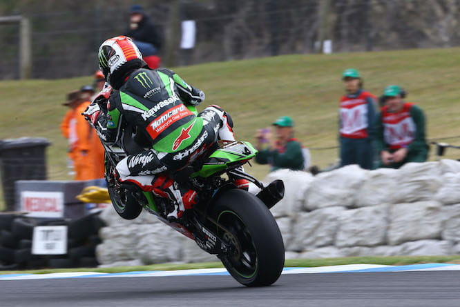 Jonathan Rea took the first win of the year