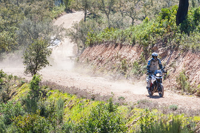 Less ground clearance than the F800GS but the smaller of the two middleweight adventure BMW's still copes