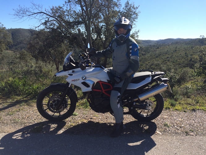 Michael Mann with BMW's F800GS