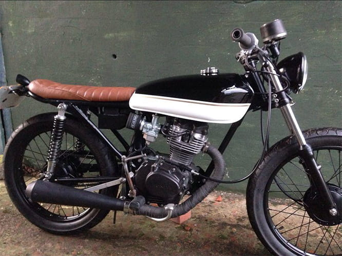 The CG125 isn't an obvious choice for the cafe racer treatment