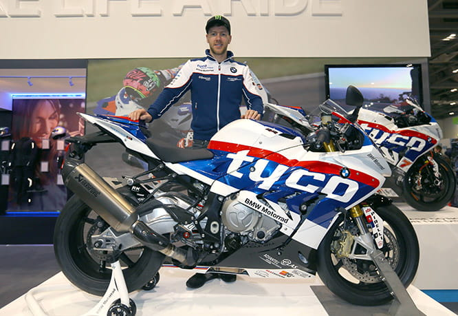 TT ace Ian Hutchinson with the 2016 Tyco BMW replica