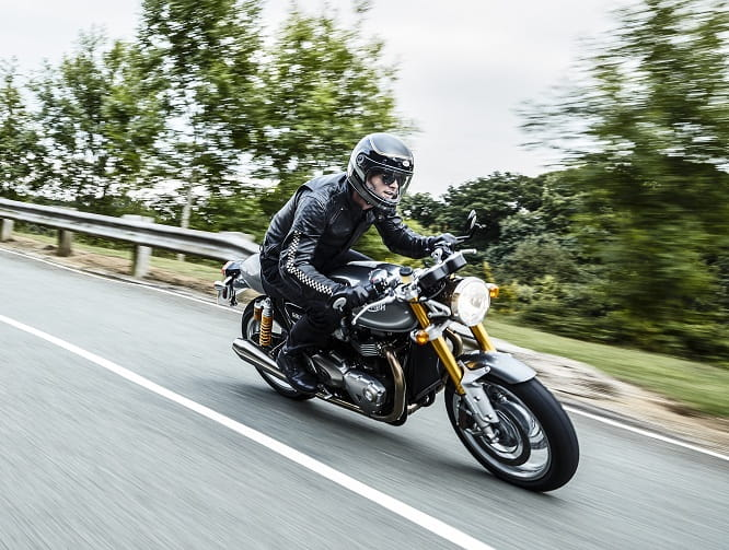 Stunning Thruxton R forms part of Triumph's new Bonneville range for 2016