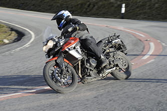At home on the roads, the rider-friendly Triumph Tiger 800 XRt