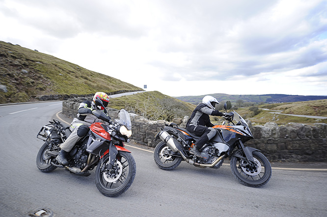 Orange battle: Triumph v. KTM
