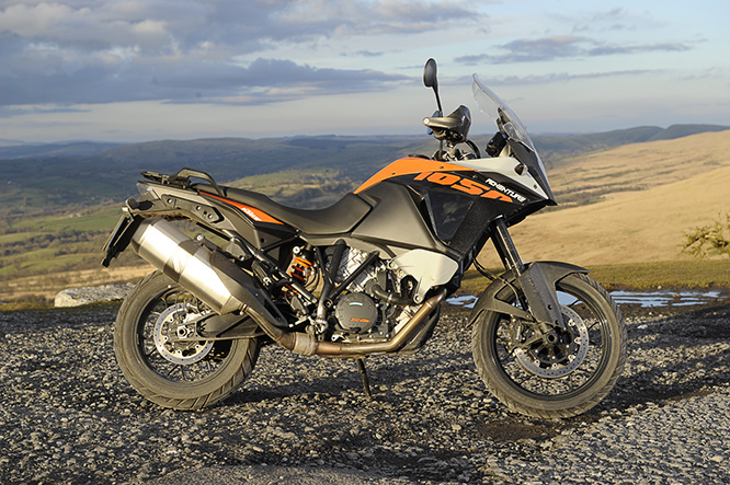 KTM 1050 Adventure - the smallest in KTM's adventure range