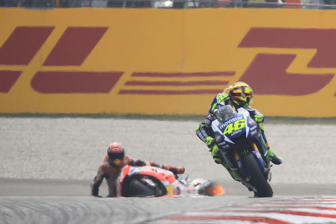 The feud between Rossi and Marquez lies dormant for now