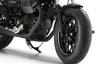 Massive balloon tyres are a tell-tale sign of a Bobber