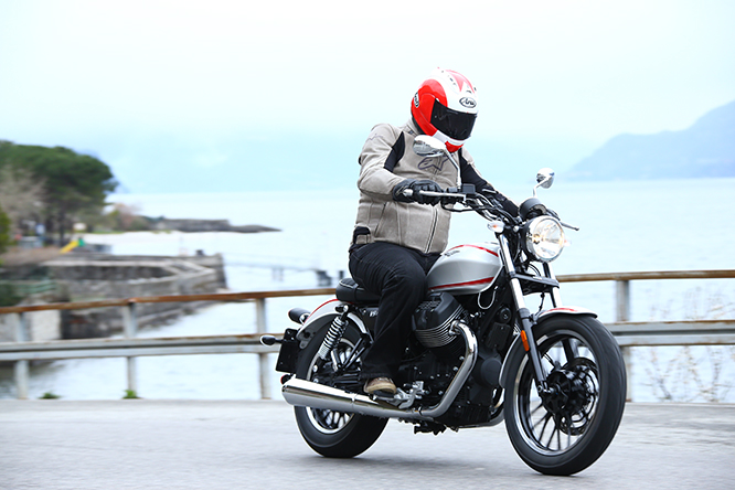 Minimal degree of electronic rider aids on the two new Guzzi's