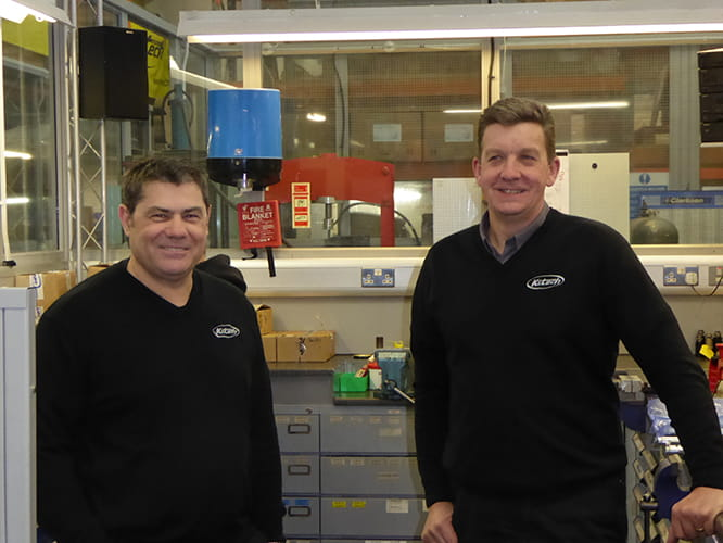 Ken Summerton (left) and Chris Taylor, the founders and owners of K-Tech, have been working together for 24 years.
